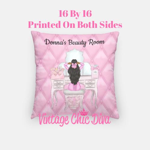 Beauty Room Girl4 Pillow Case-