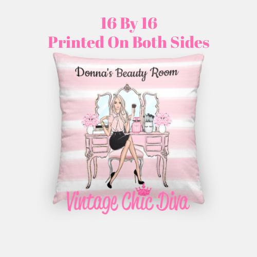 Beauty Room Girl6 Pillow Case-