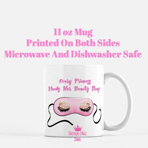 Beauty Sleep Mask Coffee Mug-