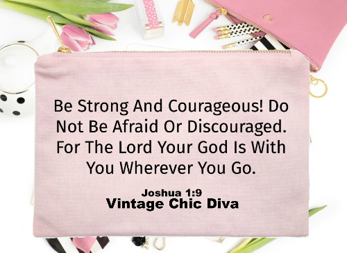 Be Strong And Courageous1 Pink-