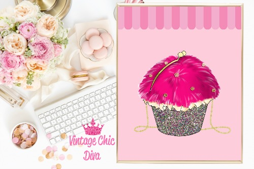 Betsey Johnson Cupcake Purse Pink Awning Background-