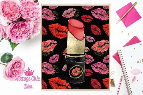 Betsey Johnson Lipstick Purse Lips Background-