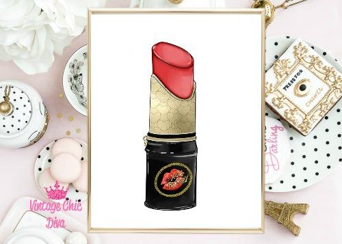 Betsey Johnson Lipstick Purse White Background-