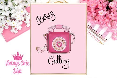 Betsey Johnson Pink Phone Purse Pink Background-