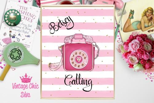 Betsey Johnson Pink Phone Purse Pink White Gold Dots Background-