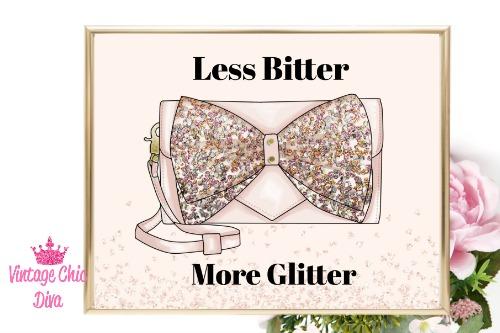 Betsey Johnson Pink Sequin Purse Blush Diamond Background-
