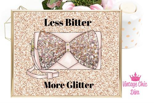 Betsey Johnson Pink Sequin Purse Blush Glitter Background-