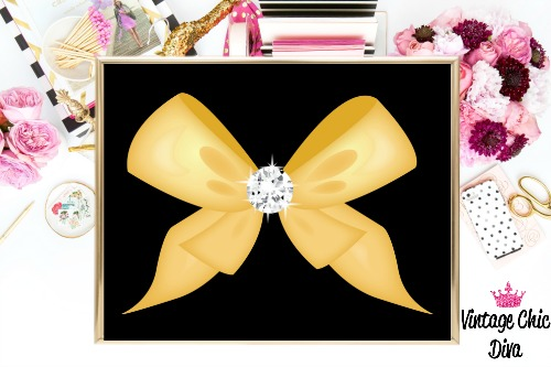 Black Bow Diamond-