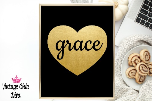 Black Heart Gold Grace-