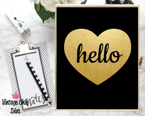 Black Heart Gold Hello-