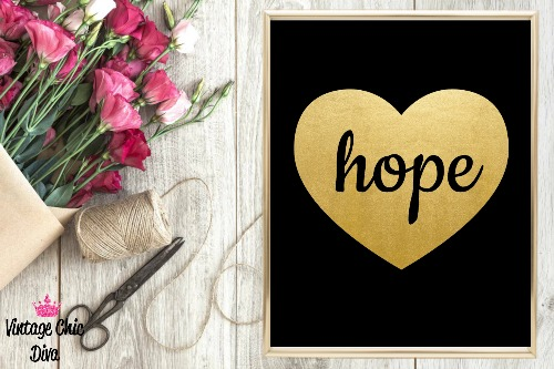 Black Heart Gold Hope-
