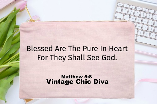 Blessed Are The Pure In Heart Pink-
