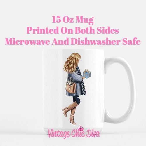 Blue Winter Girl10 Coffee Mug-