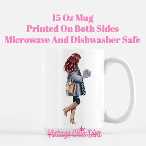 Blue Winter Girl11 Coffee Mug-