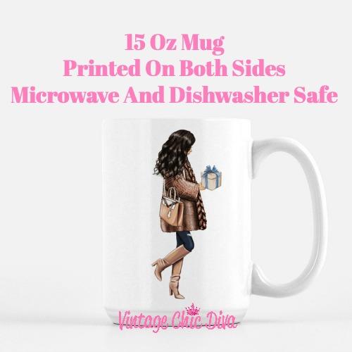 Blue Winter Girl13 Coffee Mug-