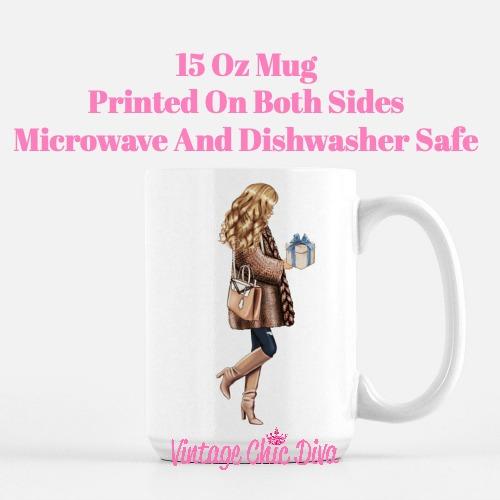 Blue Winter Girl14 Coffee Mug-
