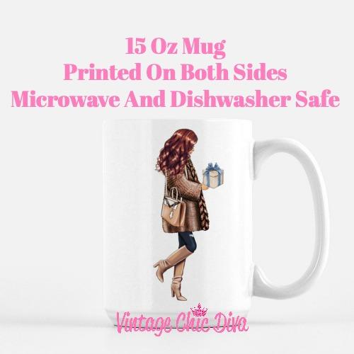 Blue Winter Girl15 Coffee Mug-
