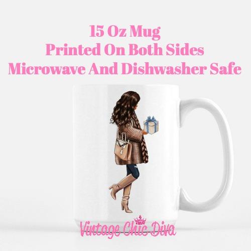 Blue Winter Girl16 Coffee Mug-