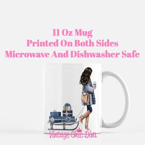 Blue Winter Girl17 Coffee Mug-