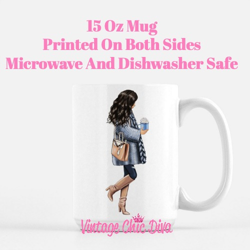 Blue Winter Girl1 Coffee Mug-