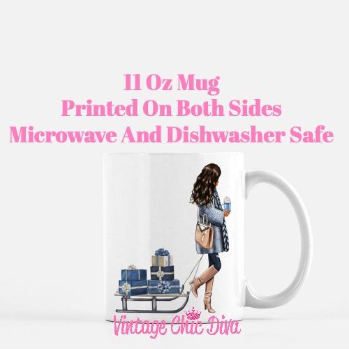 Blue Winter Girl20 Coffee Mug-