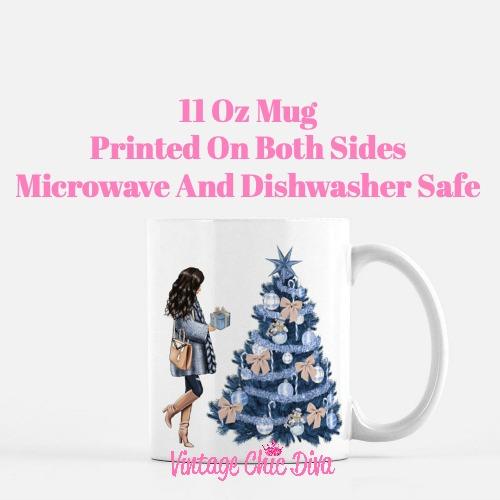 Blue Winter Girl21 Coffee Mug-