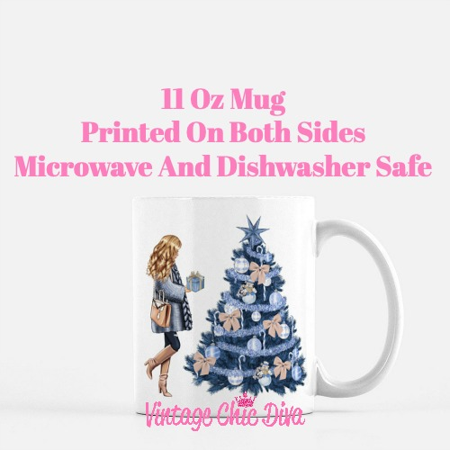 Blue Winter Girl22 Coffee Mug-