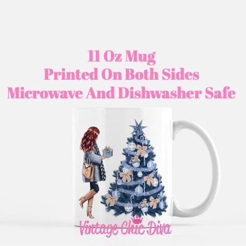 Blue Winter Girl23 Coffee Mug-