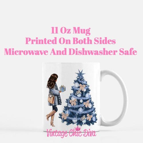 Blue Winter Girl24 Coffee Mug-