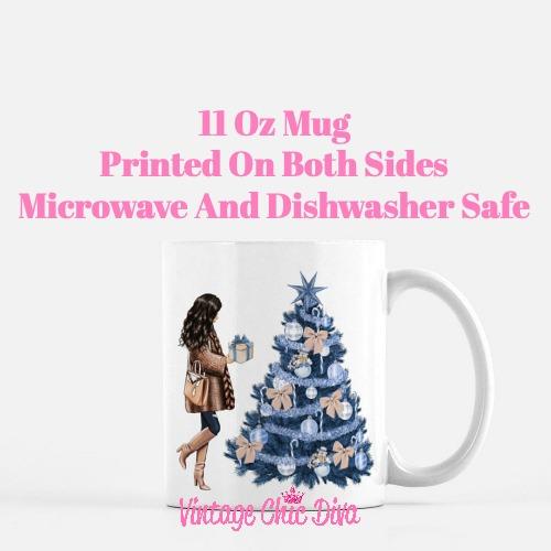 Blue Winter Girl25 Coffee Mug-