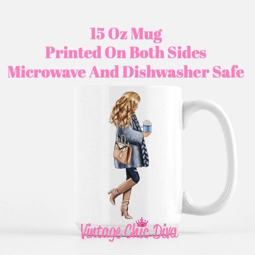 Blue Winter Girl2 Coffee Mug-
