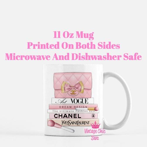 Blush Chanel Handbag Fashion Book Set10 Coffee Mug-