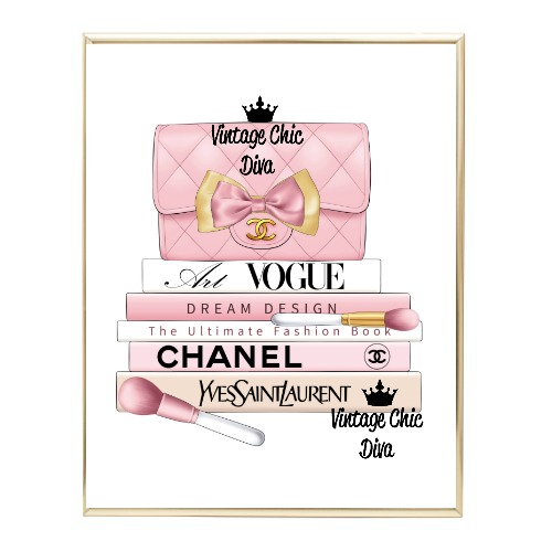 Blush Chanel Handbag Fashion Book Set10 Wh Bg-