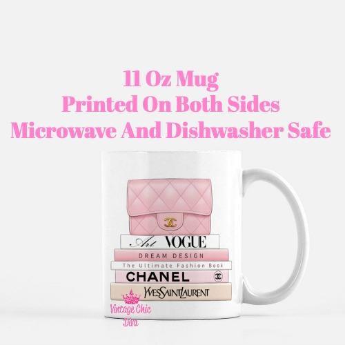 Blush Chanel Handbag Fashion Book Set1 Coffee Mug-