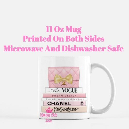 Blush Chanel Handbag Fashion Book Set3 Coffee Mug-