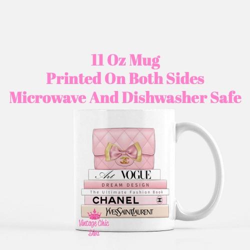 Blush Chanel Handbag Fashion Book Set5 Coffee Mug-