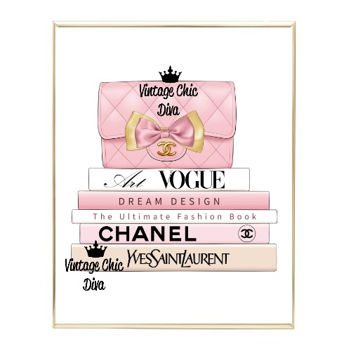 Blush Chanel Handbag Fashion Book Set5 Wh Bg-