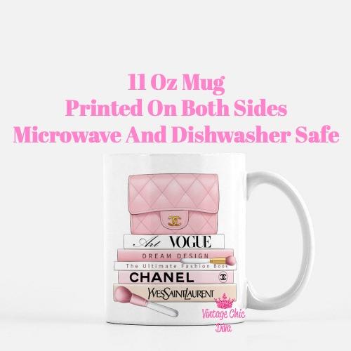 Blush Chanel Handbag Fashion Book Set6 Coffee Mug-