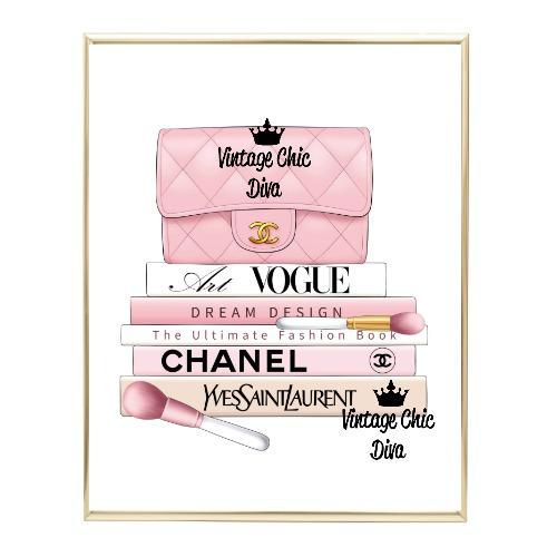 Blush Chanel Handbag Fashion Book Set6 Wh Bg-