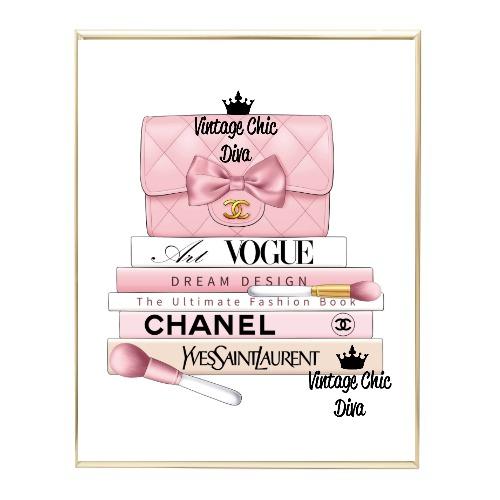 Blush Chanel Handbag Fashion Book Set7 Wh Bg-
