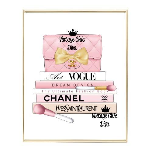 Blush Chanel Handbag Fashion Book Set8 Wh Bg-