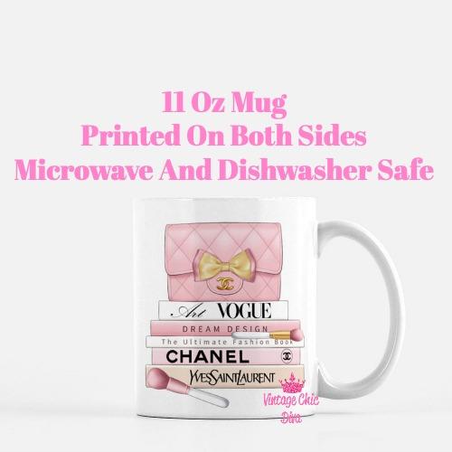 Blush Chanel Handbag Fashion Book Set9 Coffee Mug-