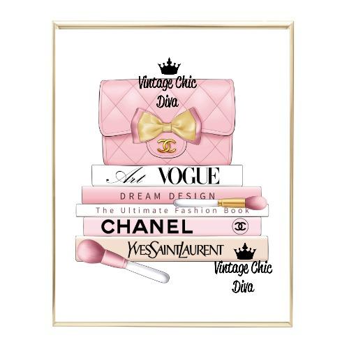 Blush Chanel Handbag Fashion Book Set9 Wh Bg-