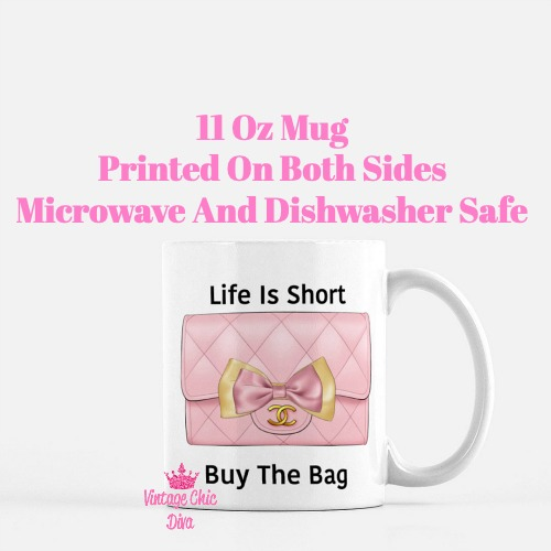 Blush Chanel Handbag Quote10 Coffee Mug-