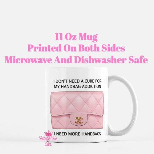 Blush Chanel Handbag Quote11 Coffee Mug-