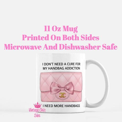 Blush Chanel Handbag Quote12 Coffee Mug-
