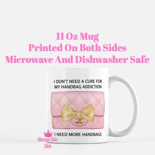 Blush Chanel Handbag Quote13 Coffee Mug-
