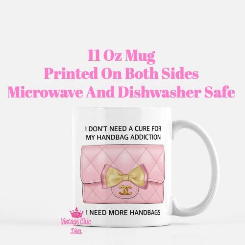 Blush Chanel Handbag Quote14 Coffee Mug-