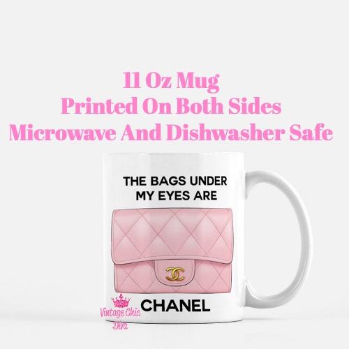 Blush Chanel Handbag Quote1 Coffee Mug-