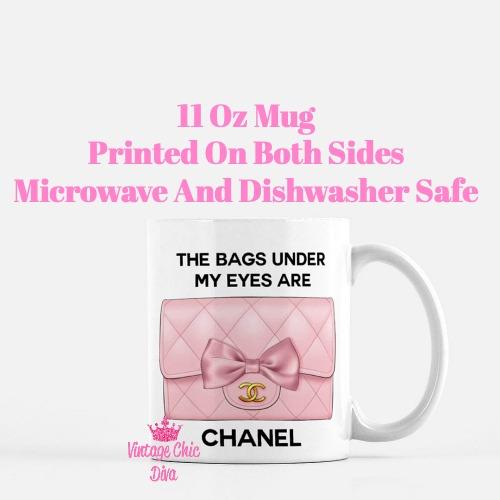 Blush Chanel Handbag Quote2 Coffee Mug-